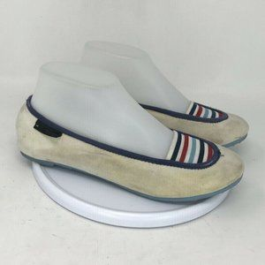 Marc Jacobs Womens Striped Slip On Flats Size 7